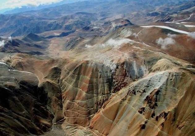 Vista de Pascua Lama desde Chile