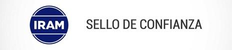 IRAM IZQUIERDA SELLO DE CONFIANZA